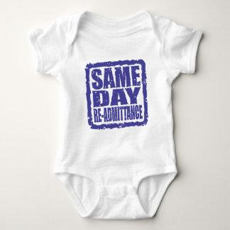 Same Day Re-admittance in blue Baby Bodysuit
