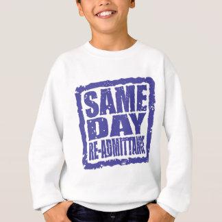 Same Day Re-admittance in blue Sweatshirt