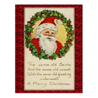 Same Old Santa Vintage Antique Christmas Postcard