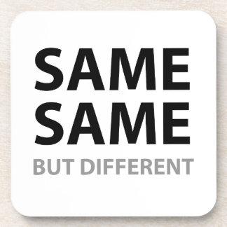 SAME SAME but different Beverage Coasters
