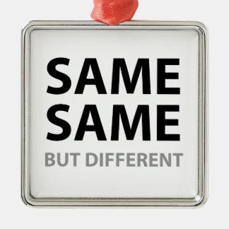 SAME SAME but different Square Metal Christmas Ornament