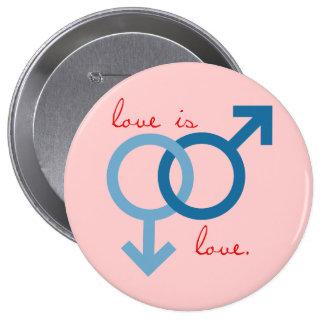 Same-Sex Love (Male) 4 Inch Round Button