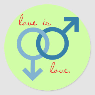 Same-Sex Love (Male) Classic Round Sticker