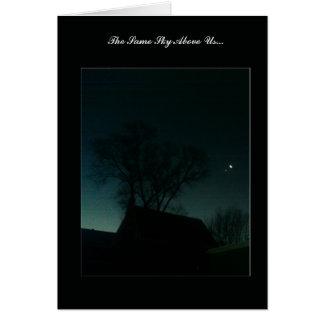 """Same Sky Above Us"" - Moon & Star Greeting Card"