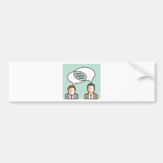 Same Thoughts Vector illustration Bumper Sticker