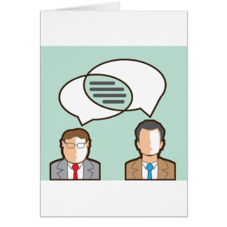 Same Thoughts Vector illustration Card