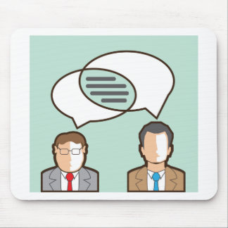 Same Thoughts Vector illustration Mouse Pad