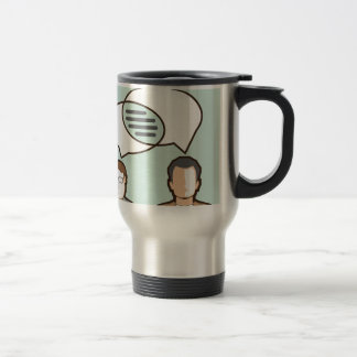 Same Thoughts Vector illustration Travel Mug