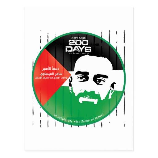 Samer al Issawi hunger strike Postcards