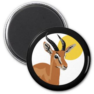 Samer the Gazelle 2 Inch Round Magnet
