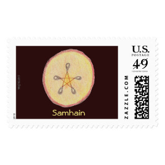 Samhain Apple Slice Witch Wiccan Pagan Postage