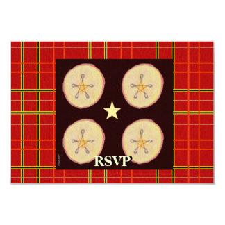 Samhain Apples and Star Pentacle Prim RSVP 3.5x5 Paper Invitation Card