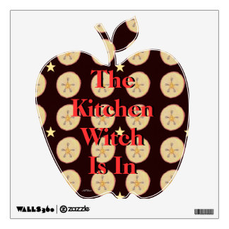 Samhain Apples and Star Pentacle Prim Room Stickers