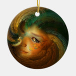 Samhain Artwork Round Ornament