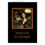 Samhain bendecido - estrellas de la bruja felicitaciones