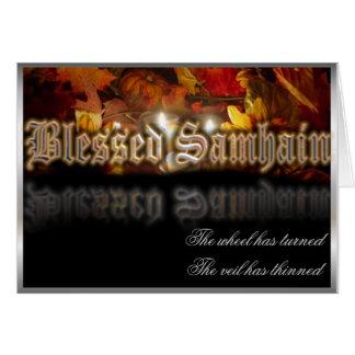 Samhain bendecido tarjeta de felicitación