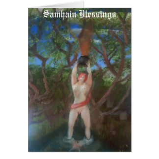"""""""Samhain Blessings"""" by Troubadours of Albion Greeting Card"""