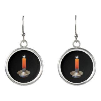 Samhain Candles Earrings