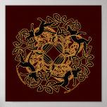 Samhain Cats Celtic Art Prints Poster
