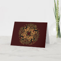 Samhain Celtic Cats Knotwork Cards