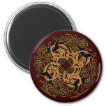 Samhain Celtic Cats Knotwork Magnets