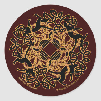 Samhain Celtic Cats Knotwork Stickers