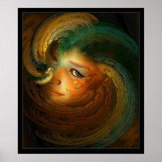 Samhain Fantasy Art Print print