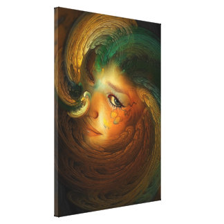 Samhain Fantasy Portrait Canvas Wrap Canvas Print