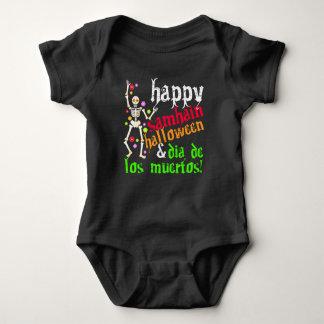 ¡Samhain feliz Halloween y Dia de los Muertos! Body Para Bebé