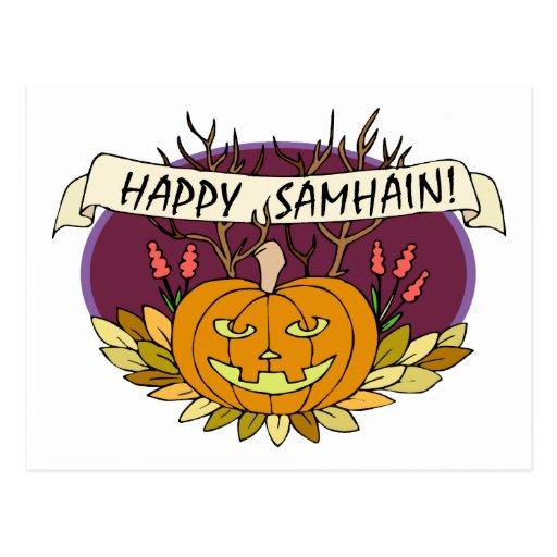Samhain feliz postal