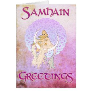 Samhain Greetings Lunar Goddess Card