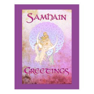 Samhain Greetings Lunar Goddess Postcard