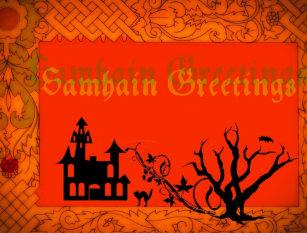 Samhain invitations stationery zazzle samhain greetings postcard m4hsunfo