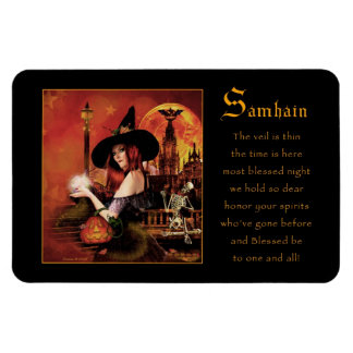 Samhain Magical Witch Magnet
