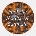 Samhain Magick Pegatina Redonda
