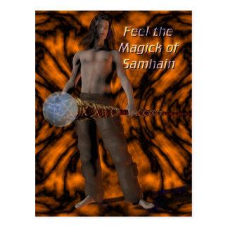 Samhain Magick Postcard