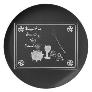 Samhain Magick Tools Black and White Plate