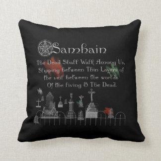 Samhain Pagan wheel Throw Pillow
