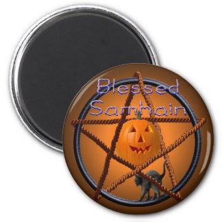 samhain pentacle 2 inch round magnet