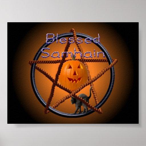 samhain pentacle poster