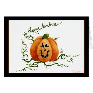 Samhain Pumpkin Card
