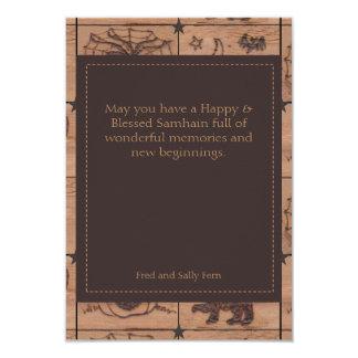 """Samhain remilgado remienda el solo saludo de la invitación 3.5"""" x 5"""""""