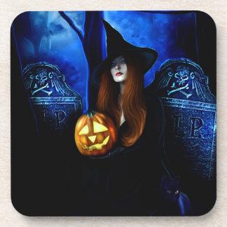 Samhain Witch Cork Coaster