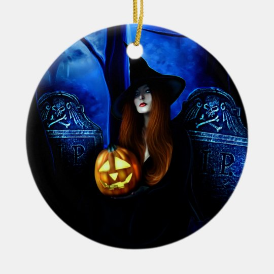Samhain Witch Ornament