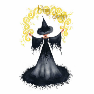 Samhain Witch Ornament Cut Out
