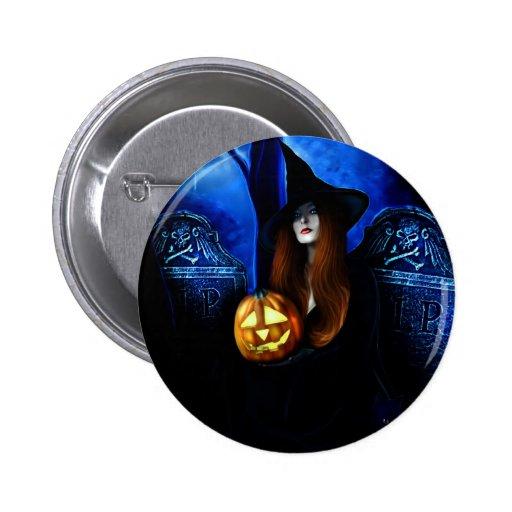 Samhain Witch Pin