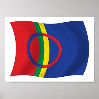 Sami People Flag Poster Print
