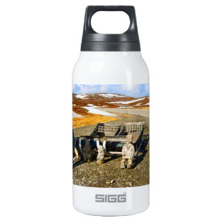 Sami settlement, Lapland, northern Norway Insulated Water Bottle