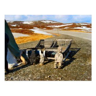 Sami settlement, Lapland, northern Norway Postcard