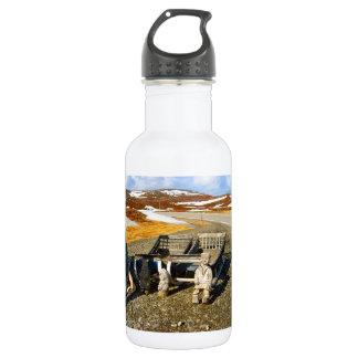 Sami settlement, Lapland, northern Norway Water Bottle